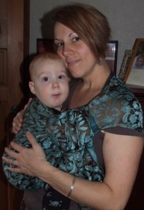 Babywearing! My youngest, Ziah and I. {circa 2008}